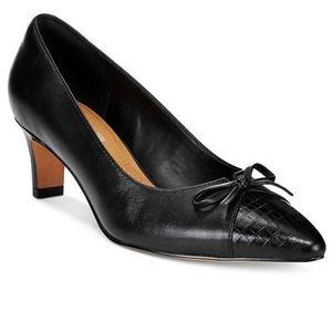 CLARKS Crewso Calica Black Career Leather …